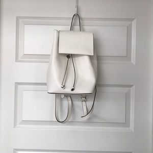 French Connection mini white backpack
